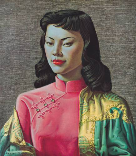 Tretchikoff lady from orient chinese girl blue jacket miss wong voltagebd Image collections